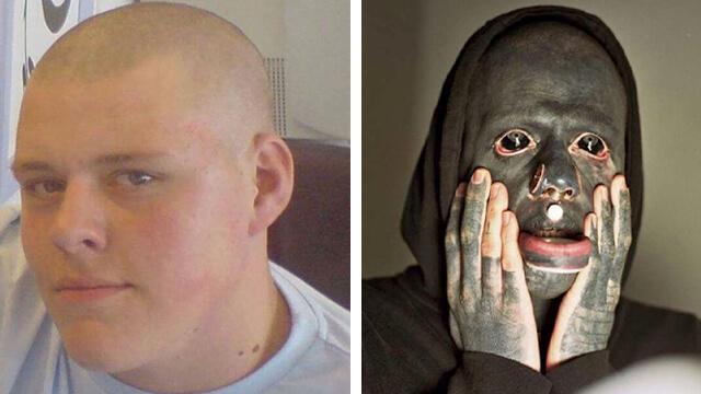 Han drömde om att tatuera hela kroppen svart – 10 år senare gråter barn när de ser honom